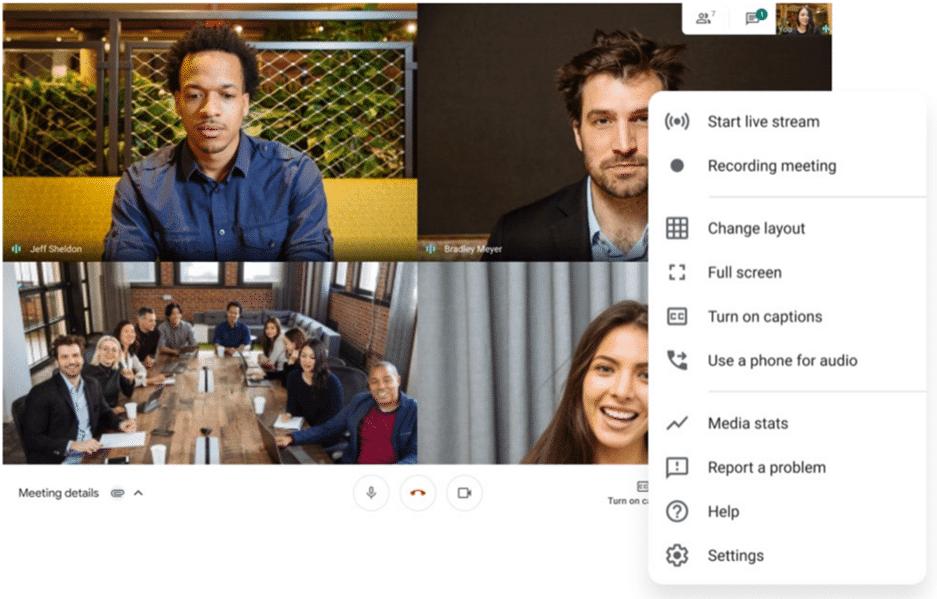 GoogleMeet_実際のWeb会議画面